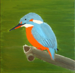 "king fisher acrylic on canvas  2015 • <a style=""font-size:0.8em;"" href=""http://www.flickr.com/photos/41385418@N07/25189870645/"" target=""_blank"">View on Flickr</a>"
