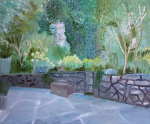 "'' a quiet garden'' water based oil on canvas 70x50cm 2015 • <a style=""font-size:0.8em;"" href=""http://www.flickr.com/photos/41385418@N07/25095742131/"" target=""_blank"">View on Flickr</a>"