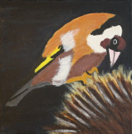 "goldfinch acrylic on canvas  2015 • <a style=""font-size:0.8em;"" href=""http://www.flickr.com/photos/41385418@N07/24822183049/"" target=""_blank"">View on Flickr</a>"