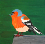 "chaffinch acrylic on canvas  2015 • <a style=""font-size:0.8em;"" href=""http://www.flickr.com/photos/41385418@N07/25071481542/"" target=""_blank"">View on Flickr</a>"