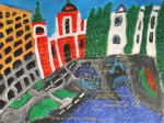 "'' Ljubjana , slovenia '' acrylic & ink color on paper 2015 • <a style=""font-size:0.8em;"" href=""http://www.flickr.com/photos/41385418@N07/24894924290/"" target=""_blank"">View on Flickr</a>"