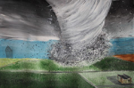 "Brianna Hurley The Tornado alle acrylic and pencil on paper 38 x 57.5 cm 2018 • <a style=""font-size:0.8em;"" href=""http://www.flickr.com/photos/41385418@N07/44055457725/"" target=""_blank"">View on Flickr</a>"