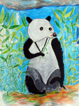 "Andrew Pike - Panda - 2010 - Acrylic and colour pencils - 56.7x76,5cm • <a style=""font-size:0.8em;"" href=""http://www.flickr.com/photos/41385418@N07/7195243800/"" target=""_blank"">View on Flickr</a>"