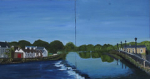 "Eileen Mulrooney - Weir on the Suir - 2010 - Waterbased oils on board • <a style=""font-size:0.8em;"" href=""http://www.flickr.com/photos/41385418@N07/7195320280/"" target=""_blank"">View on Flickr</a>"