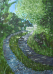"""Margaret Walker - Jackies lane - 2010 - Acrylic • <a style=""""font-size:0.8em;"""" href=""""http://www.flickr.com/photos/41385418@N07/7202130882/"""" target=""""_blank"""">View on Flickr</a>"""