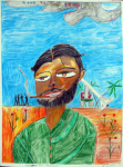 """Andrew Pike - Che Guevara Pike Revolution - 2010 - Colour pencils - 76.7x57.1cm • <a style=""""font-size:0.8em;"""" href=""""http://www.flickr.com/photos/41385418@N07/7195245030/"""" target=""""_blank"""">View on Flickr</a>"""
