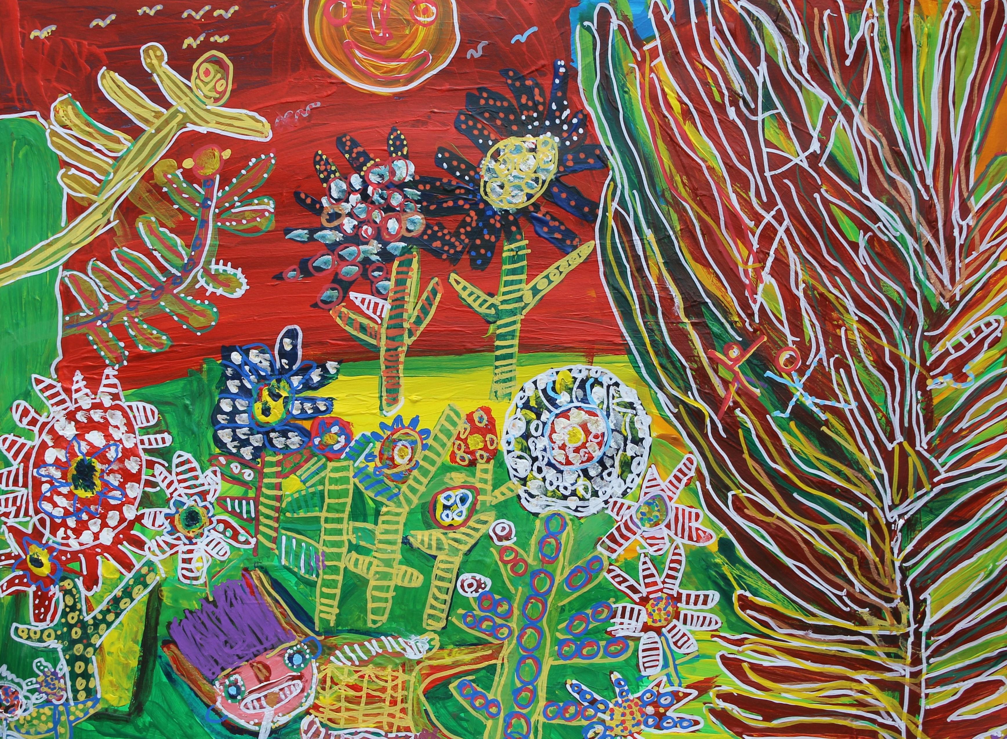 Flowers in Kildare, 2015, Lorna-Corrigan, 76cmX57cm